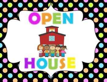 Open House/Parent Night Powerpoint (Bright Polkadot)