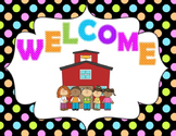 Open House/Parent Night Powerpoint (Bright Polkadot)