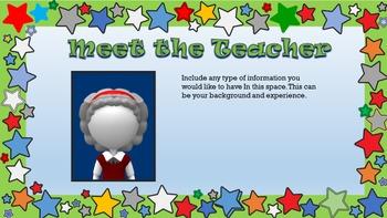 Open House & Parent Orientation PowerPoint Editable - Elementary & Middle School