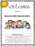 Open House Parent Packet (Editable)