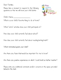 Open House Parent Questions