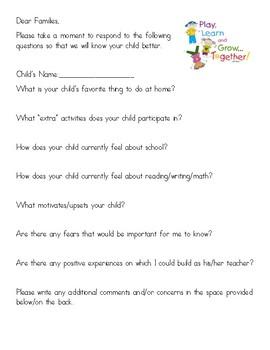 Open House Parent Questions