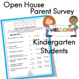 Open House Parent Survey for Rising Kindergarten Students