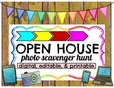 Open House Photo Scavenger Hunt Digital, Editable, and Printable Versions