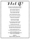 Open House Poem for Parents