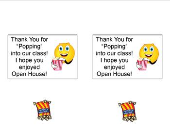 Open House Popcorn Thank You