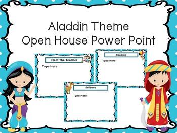 Open House Power Point -Aladdin