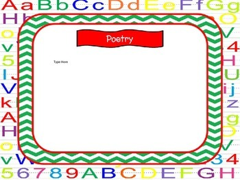 Open House Power Point Alphabet Theme-green chevron