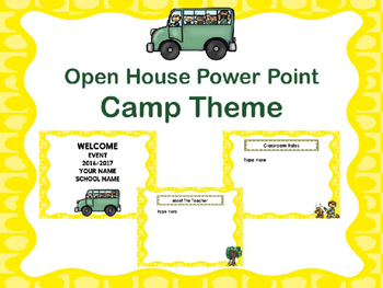 Open House Power Point -Camping