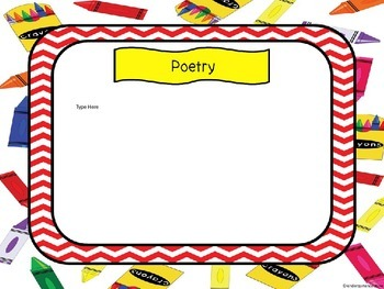 Open House Power Point Crayon Theme red chevron - editable