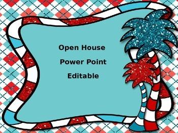 Open House Power Point Editable