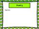 Open House Power Point Green Chevron -Editable