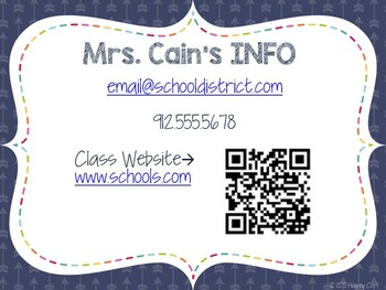 FREE Editable Open House PowerPoint! Information for parents!