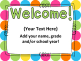 Open House PowerPoint - EDITABLE -  Parent Night PowerPoint - Polka Dots