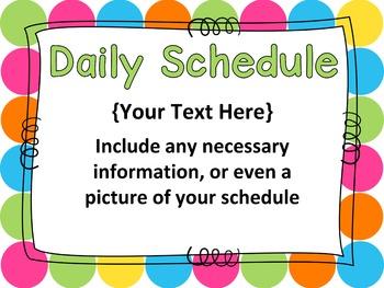 Open House PowerPoint - EDITABLE -  Parent Night PowerPoint - Polka Dots