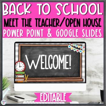Open House/Back to School Night PowerPoint {Editable} - Chalkboard