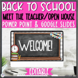 Open House/Back to School Night PowerPoint {Editable} - Ch