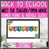 Open House Back to School Night Powerpoint Editable |Polka Dot & Watercolor|