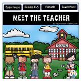 Open House PowerPoint - Meet the Teacher - Country Schoolhouse Design {Editable}