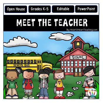 Open House PowerPoint - Meet the Teacher - Country Schoolhouse Design {Editable}
