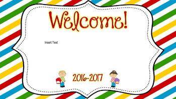 Open House PowerPoint Primary Stripe Editable