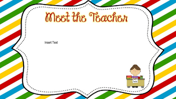 Open House PowerPoint Primary Stripe Editable