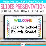Open House PowerPoint Template Bright Rainbow Presentation