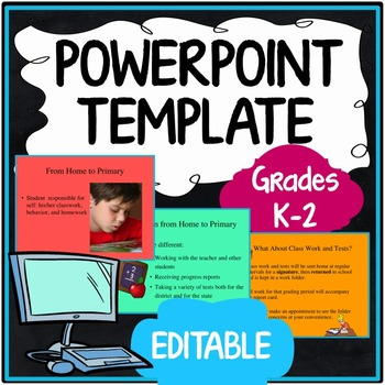 Prek back to school powerpoint presentations resources lesson back to school night open house powerpoint presentation grades k 2 toneelgroepblik Images