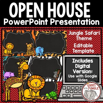 Back to school open house editable powerpoint template by queen of back to school open house editable powerpoint template toneelgroepblik Gallery