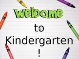 Open House PowerPoint for Kindergarten