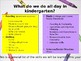 Open House PowerPoint for Kindergarten
