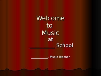 Open House PowerPoint for Your Music Department