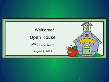 Open House PowerPower Point - Back to School - Team Presentation - Primary