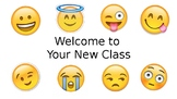 Open House Powerpoint Back to School Emoji Theme Freebie