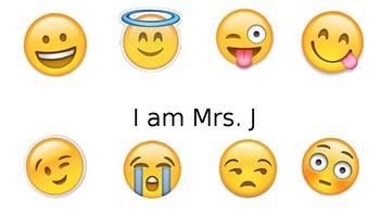 Open House Powerpoint Back to School Emoji Theme Freebie