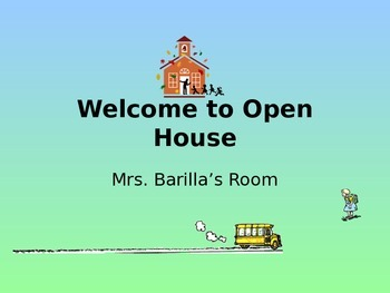 Open House Powerpoint- Basic Template