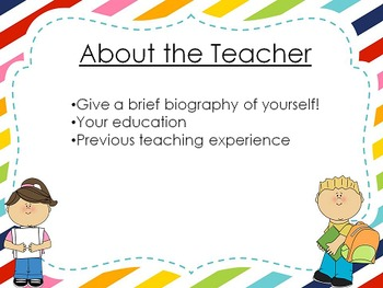 Open House Powerpoint - Cute kids - Editable!