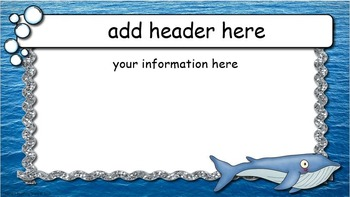 Ocean Themed Open House PowerPoint --- EDITABLE PowerPoint Presentation