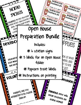 Editable Open House Preparation Bundle FREEBIE