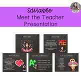 Editable Meet the Teacher Bitmoji Presentation