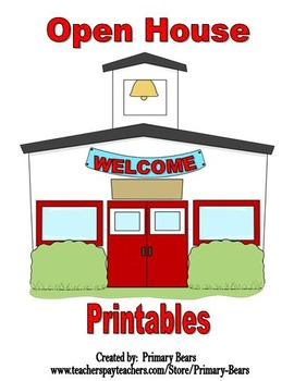 open house printables (editable)primary bears | tpt, Powerpoint templates