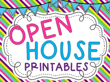 open house printableshaley o'connor | teachers pay teachers, Powerpoint templates