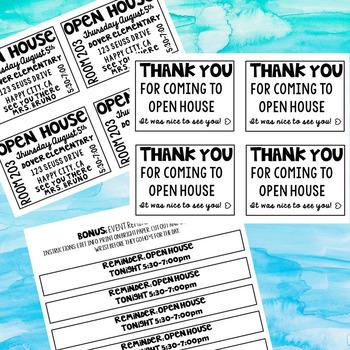 Open House Program Fan & Scavenger Hunt