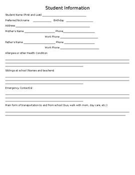 Open House Questionnaire