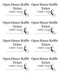 Open House Raffle Ticket - Encourage Attendance!