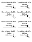 Open House Raffle Ticket - Encourage Attendance!