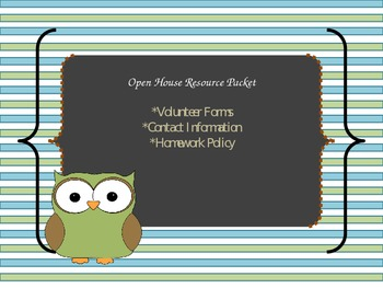 Open House Resource Packet (Editable)