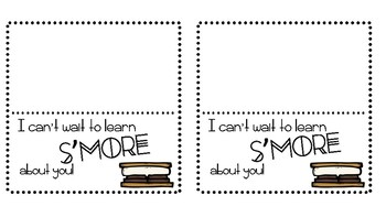 Open House S'mores Treat Tag