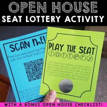 Open House Scan-to-Seat QR Code Activity for {Flexible Seating}