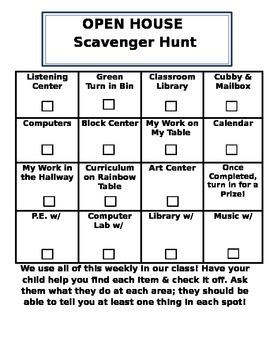 Open House Scavenger Hunt!